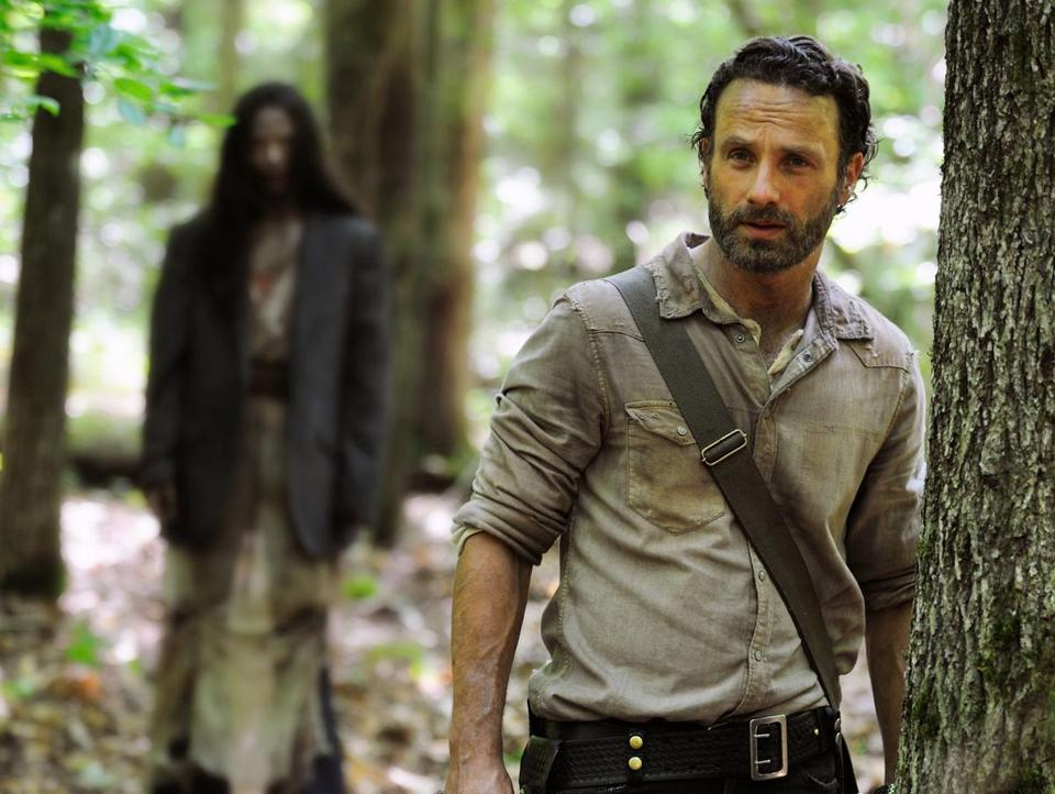 "The deal provides more opportunities for worldwide content distribution. Above, Andrew Lincoln as Rick Grimes in a scene from the season premiere of ""The Walking Dead."""