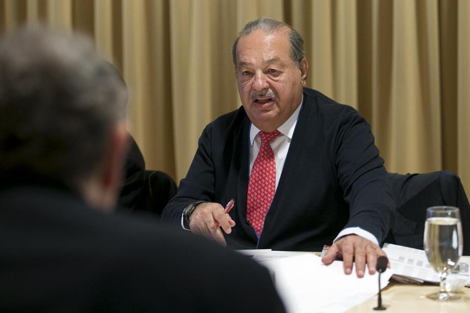 Billionaire Carlos Slim Helú announced his donation Monday to the Broad Institute in Cambridge to aid biomedical research.