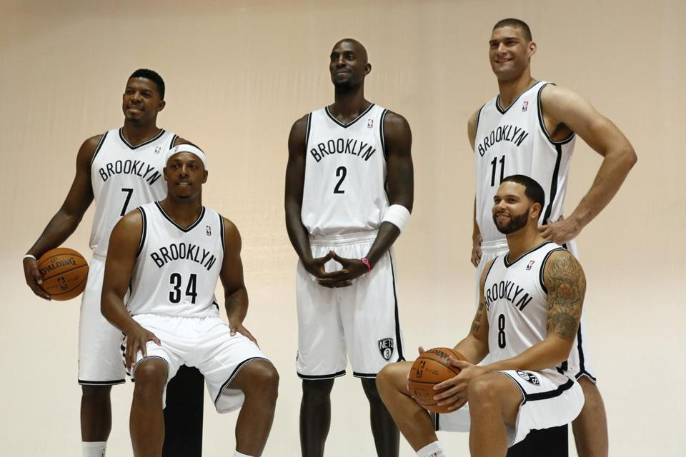 Paul Pierce (34) and Kevin Garnett (2) have made their way from the Celtics to the new-look Nets.
