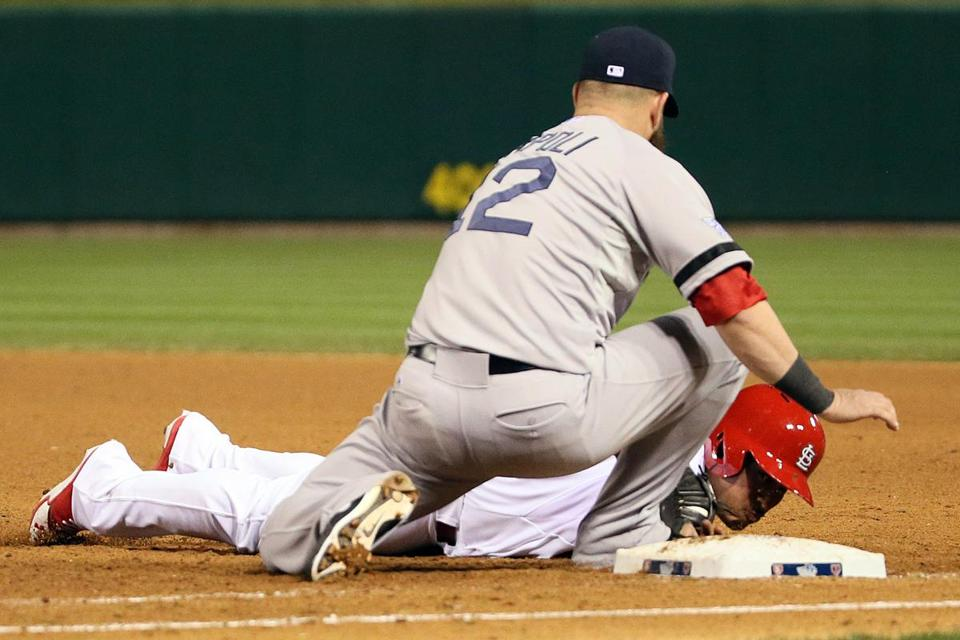 Kolten Wong was picked off at first to end Game 4.
