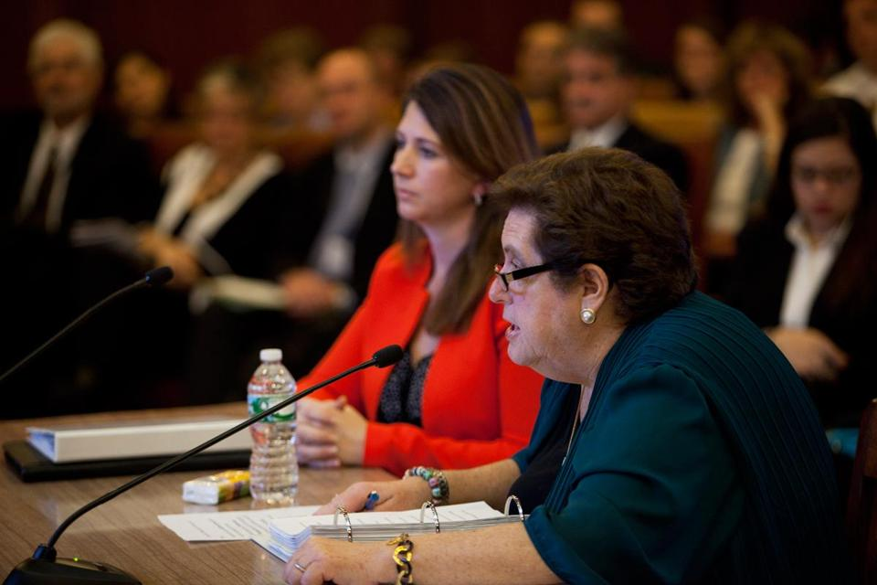 State labor Secretary Joanne Goldstein (right) admitted she would have liked some aspects of the online system's launch to go better.