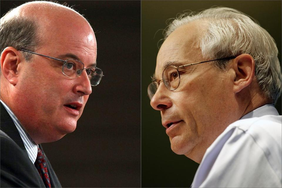 Michael Astrue, left, and Donald Berwick, right.
