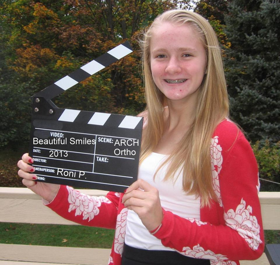 Veronica Polsgrove, a freshman at Canton High, won a video-making contest on beautiful smiles.