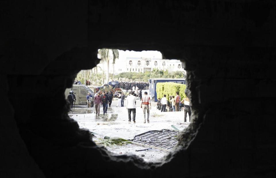 Police fired tear gas at students at Cairo's al-Azhar university on Wednesday after authorities detained Essam el-Erian.