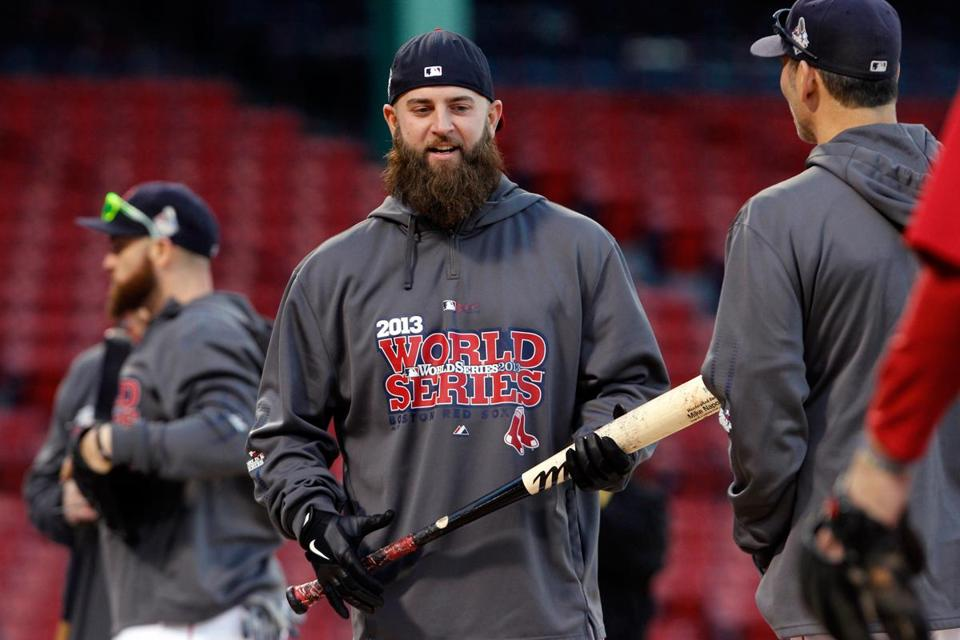 The Red Sox will get Mike Napoli, who was benched in St. Louis because of the no-DH rule, back in their lineup.
