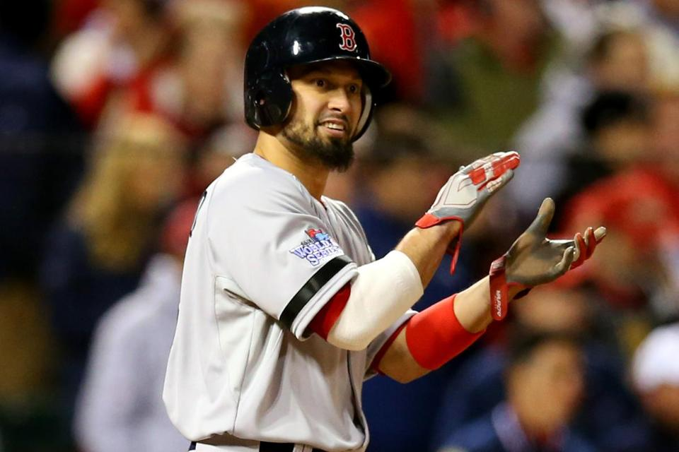 Shane Victorino missed the last two games with a sore lower back.