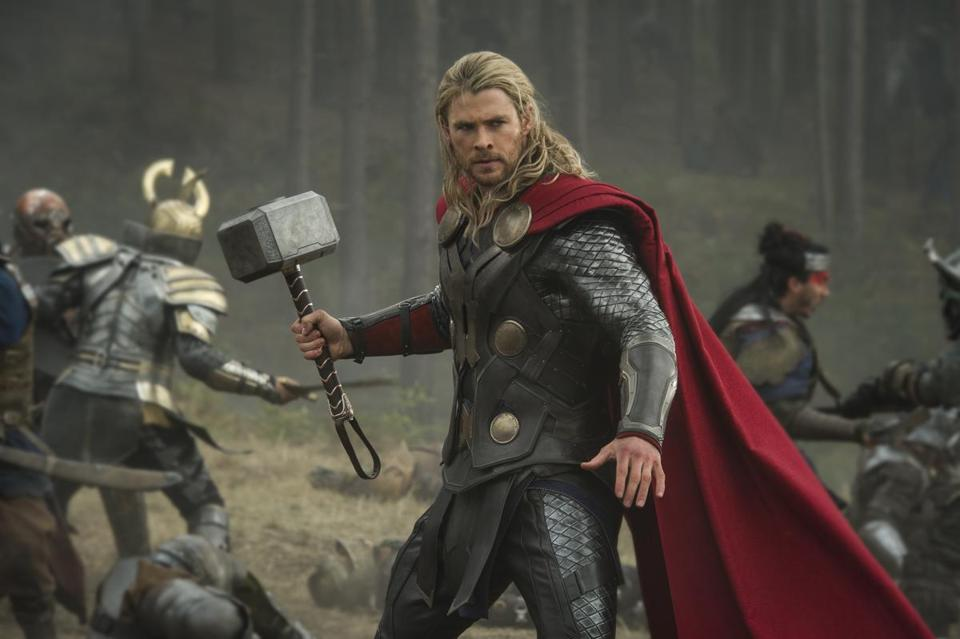 "Chris Hemsworth as the Marvel superhero Thor in the sequel ""The Dark World."""