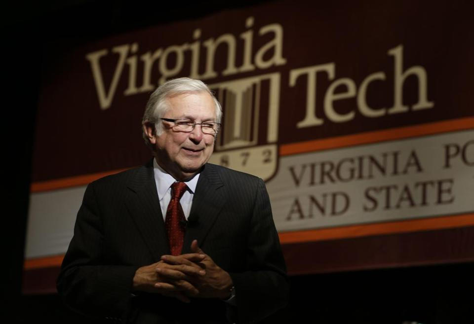 Virginia Tech president Charles W. Steger praised the Virginia attorney general's office for fighting the lawsuit.