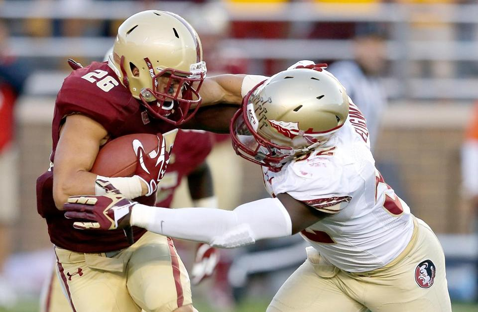 David Dudeck is third in rushing for Boston College.