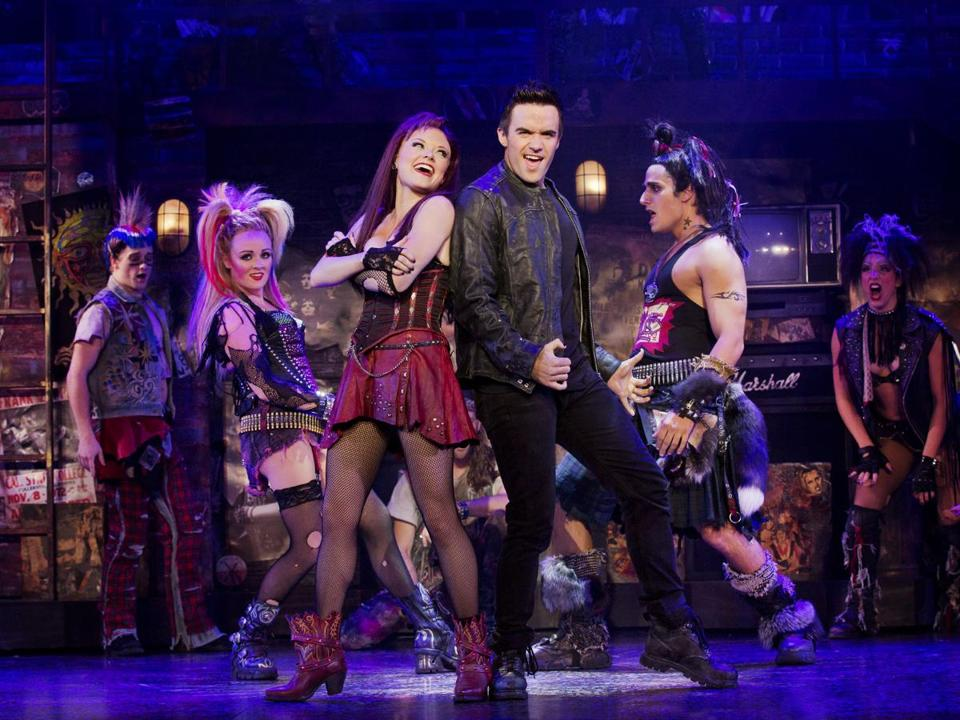 "The cast of ""We Will Rock You,"" a production based on the music of the rock band Queen."