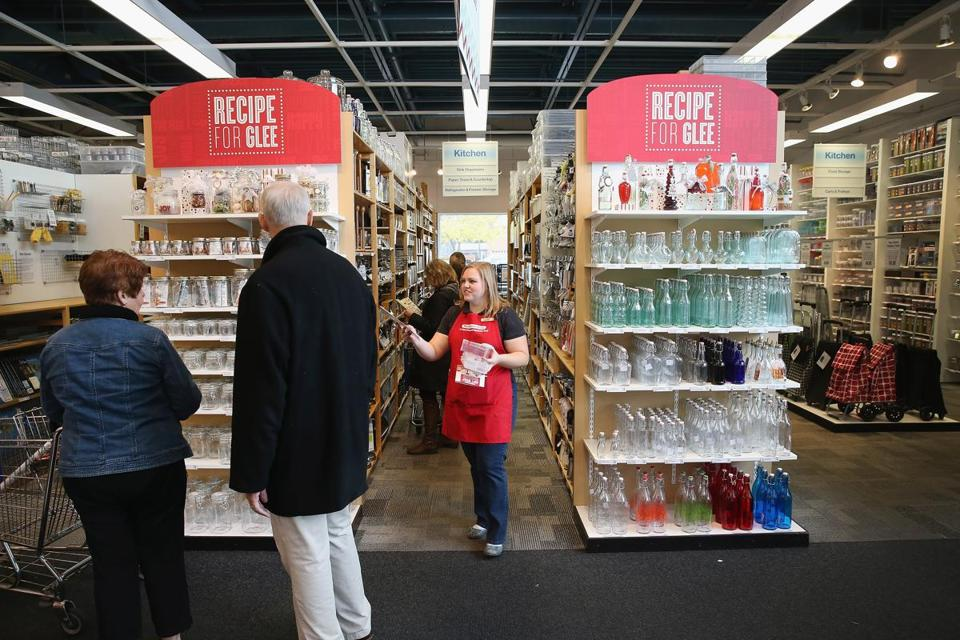 Customers shopped at a Container Store in Chicago. The company raised $225 million in its IPO on Thursday.