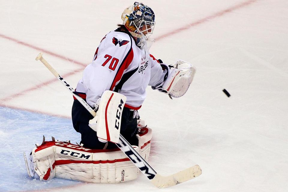 Braden Holtby coasted to a shutout in the Washington Capitals' 7-0 win.