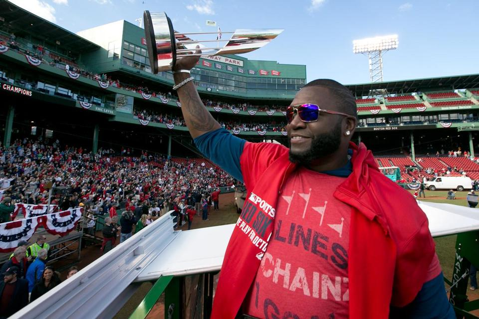 David Ortiz joins the Babe as three-time Red Sox World Series winners.
