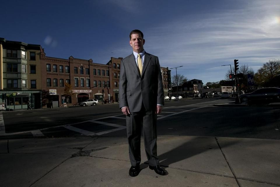 Mayor-elect Martin Walsh, photographed at Martin Luther King Boulevard in Roxbury on Nov. 4.
