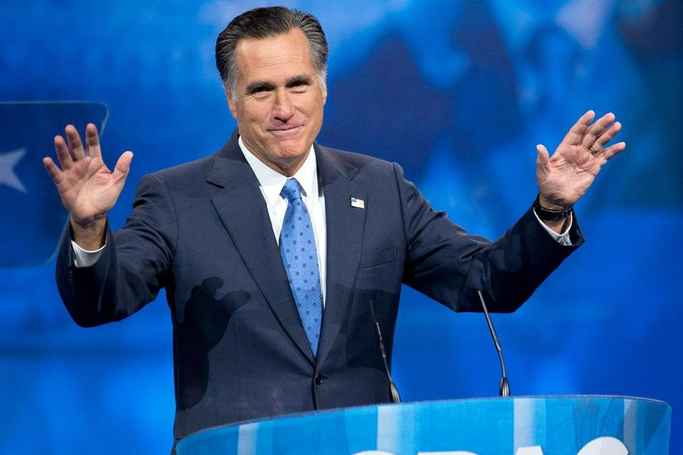 Mitt Romney spoke at the 40th annual Conservative Political Action Conference in National Harbor, Md., in March. The former presidential candidate has spent much of the past year focusing on his extended family.