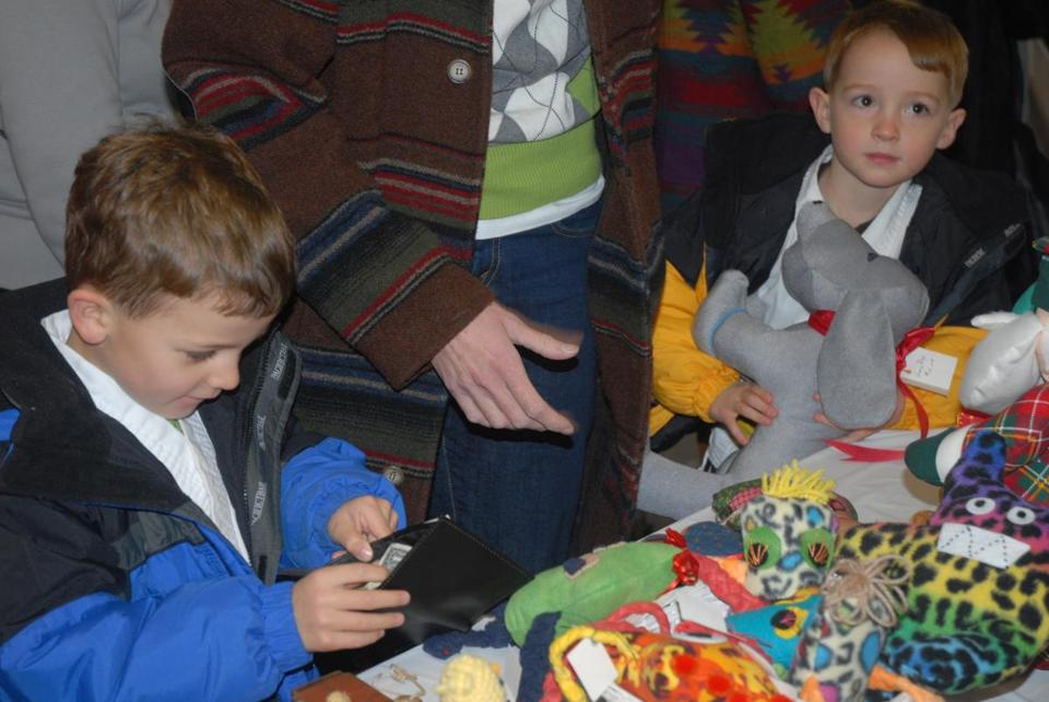 Harrison and Spencer Cook were ready to spend their money on gifts at a previous Silver Bells Fair.
