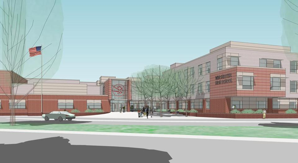 A rendering of a renovated Winchester High School.