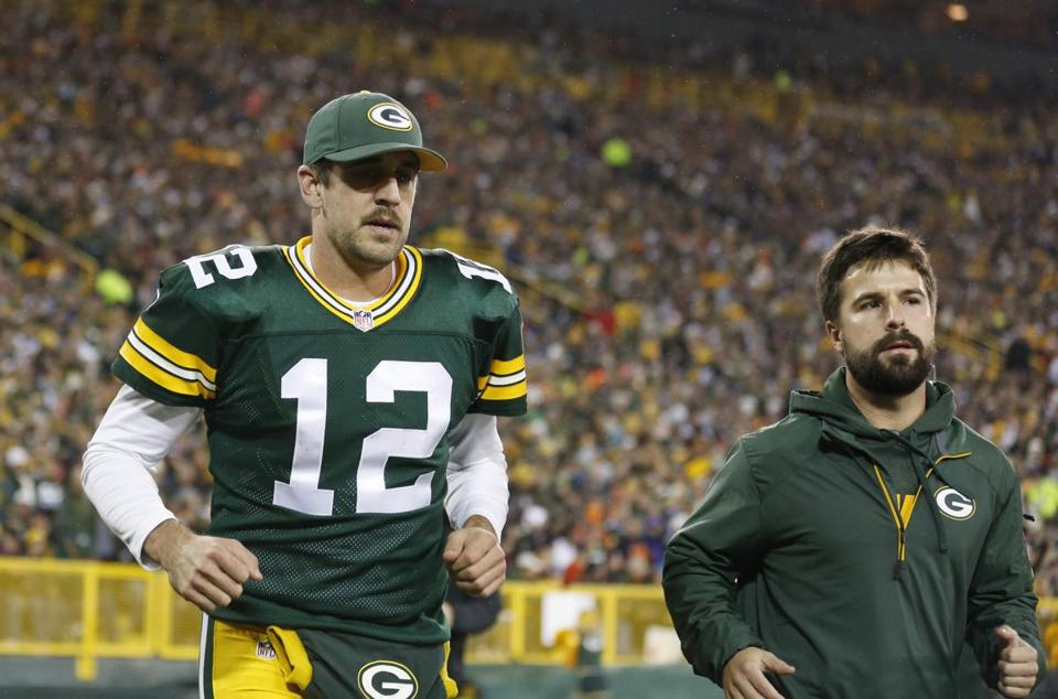 Aaron Rodgers was hurt in Monday's loss to the Bears.
