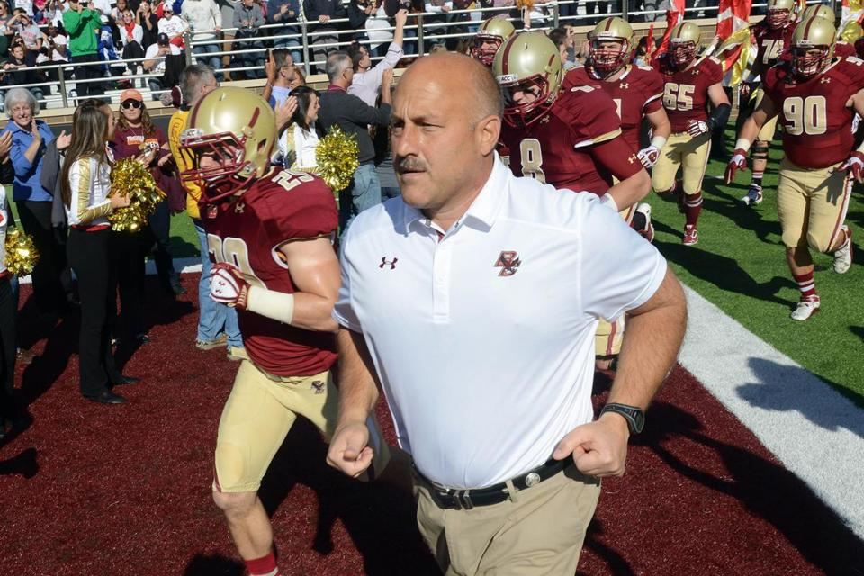 """Most of our seniors played their best game,"" BC football coach Steve Addazio said. ""I'm really encouraged to see that, and I'm happy for them.'"""