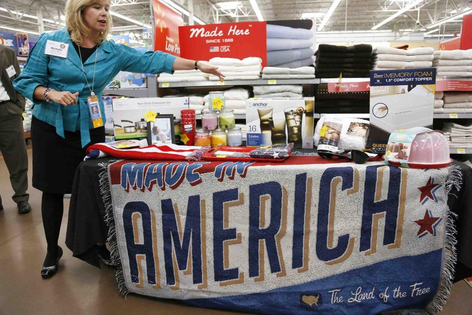 A Walmart display. The company's website had bogus prices listed for some items on Wednesday.