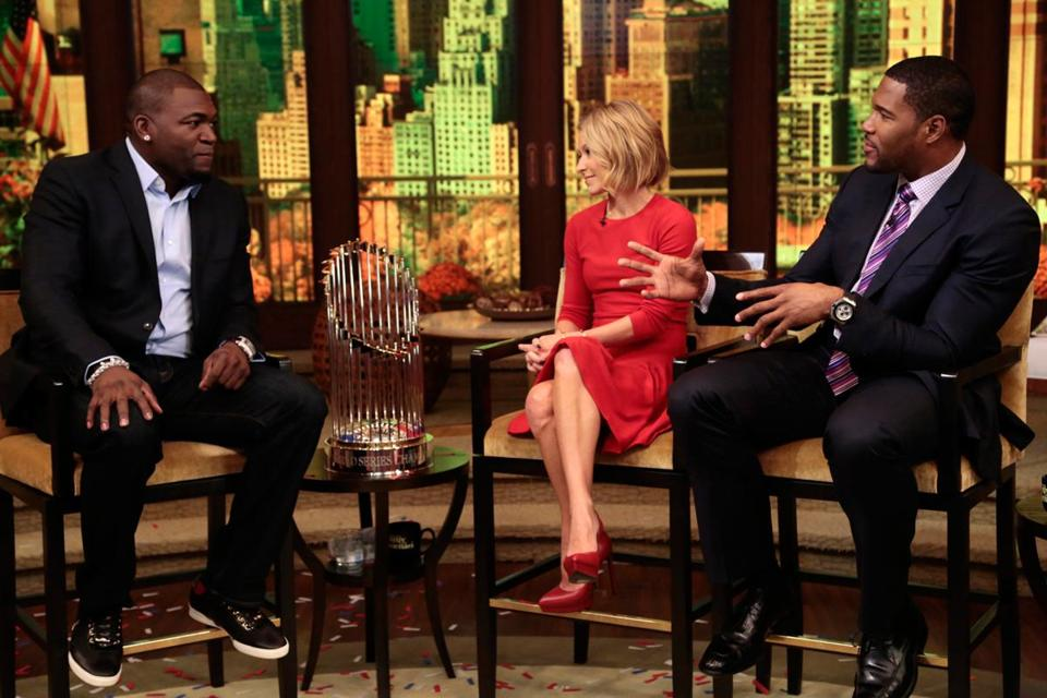 David Ortiz on Kelly Ripa and Michael Strahan's talk show on Tuesday.