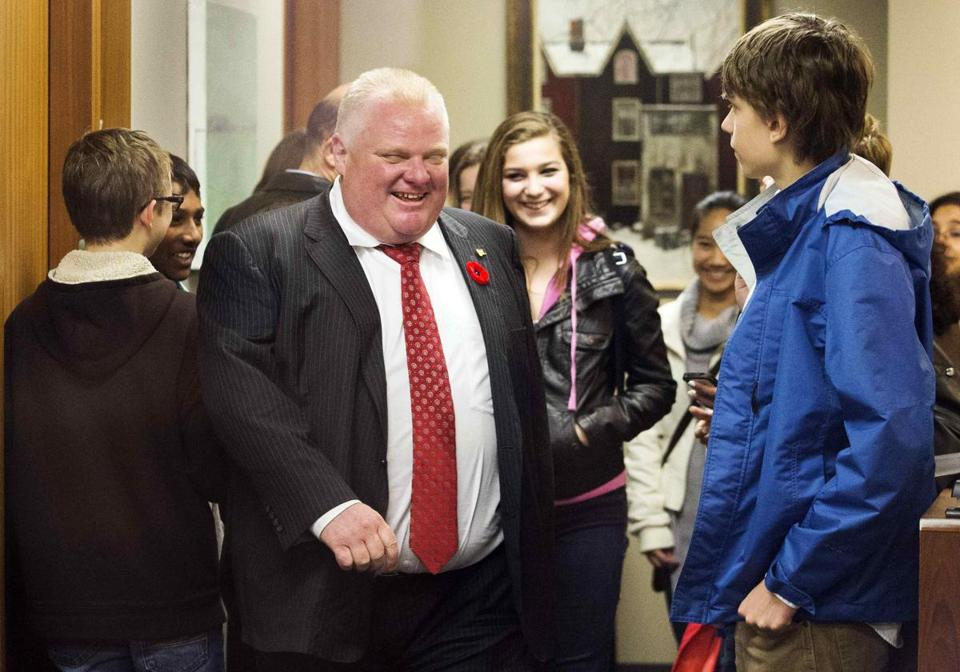 "Mayor Rob Ford gave a tour of his office during ""Take Your Kids to Work Day"" at City Hall."