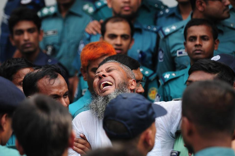A former Bangladesh Rifles soldier reacted upon hearing his death sentence in connection with a 2009 mutiny, in which thousands of troops took over their headquarters.