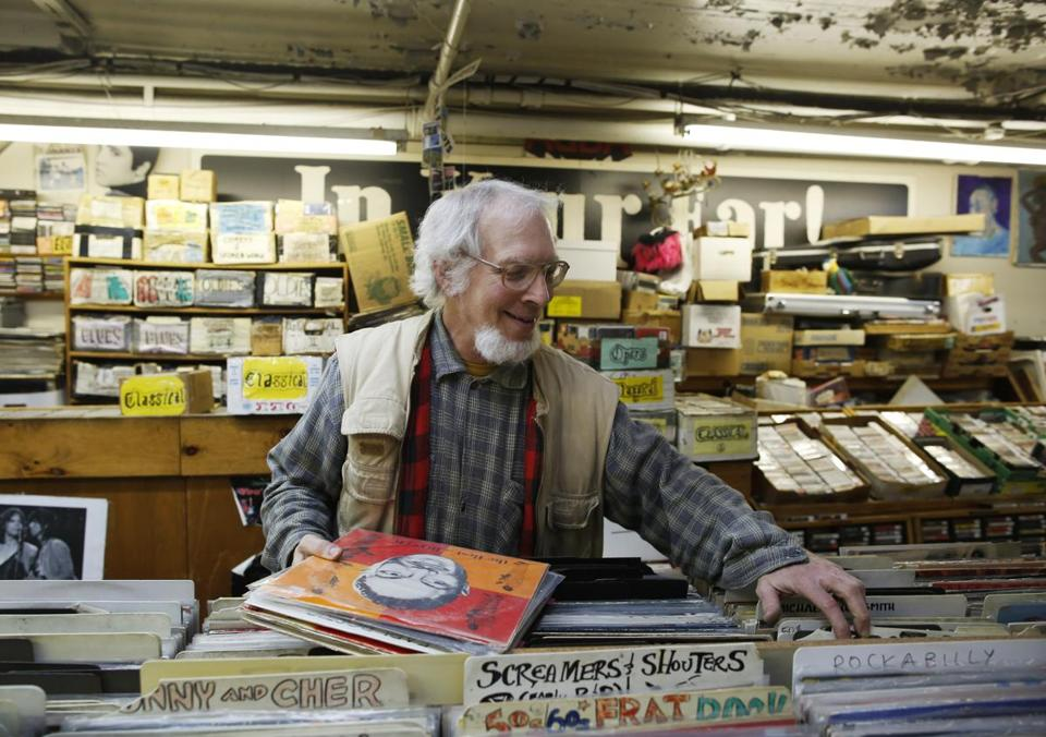 "Reed Lappin is co-owner of In Your Ear used record stores in Boston and Cambridge. ""Vinyl has had its share of ups and downs, but people just keep buying them,"" Lappin said."
