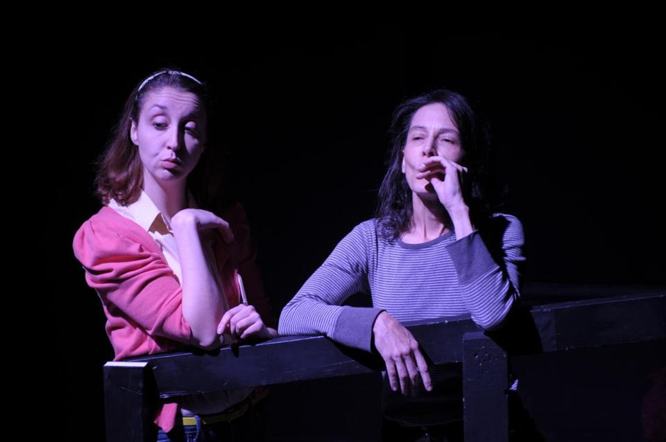 "Meredith Stypinski (left) and Lorna Nogueira in ""The After-Dinner Joke."""