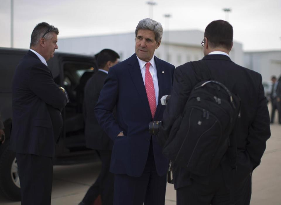 Kerry flew to Tel Aviv Friday morning for a private meeting with Israeli Prime Minister Benjamin Netanyahu.