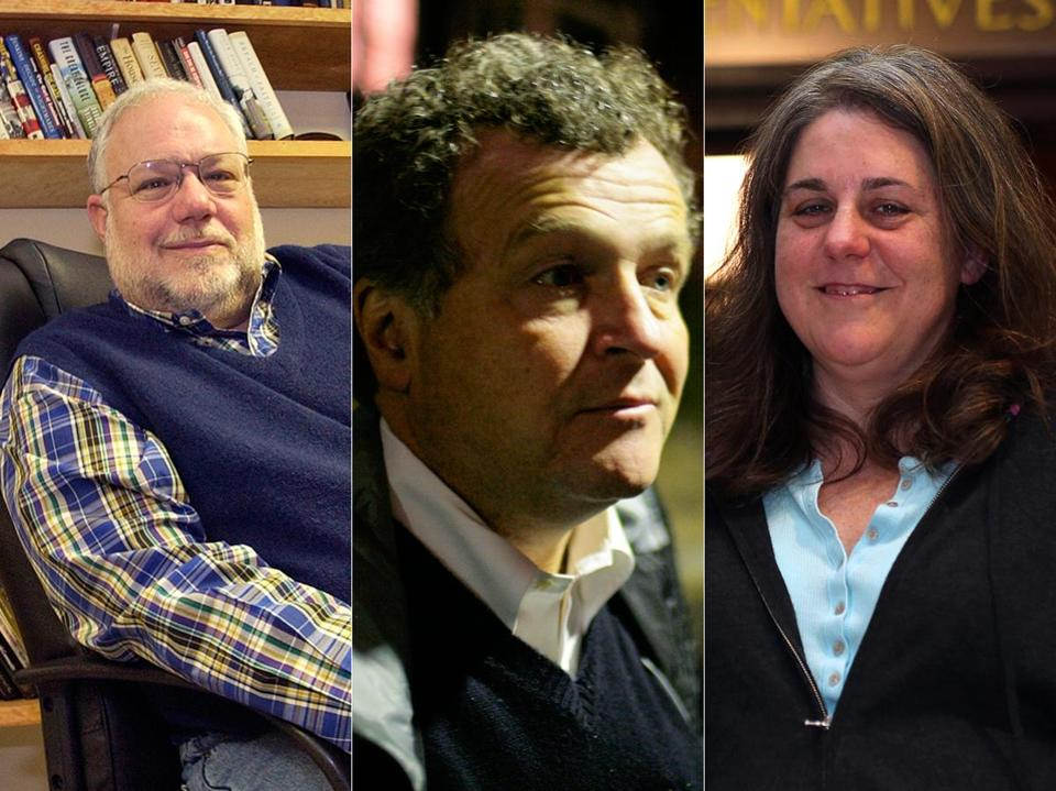 Mayor-elect Martin Walsh is expected to announce key members of his transition team Friday. Among those who could be key advisers to Walsh are (from left) political consultant Michael Goldman; Thomas Keady, a top political operative; and publicist Joyce Linehan.