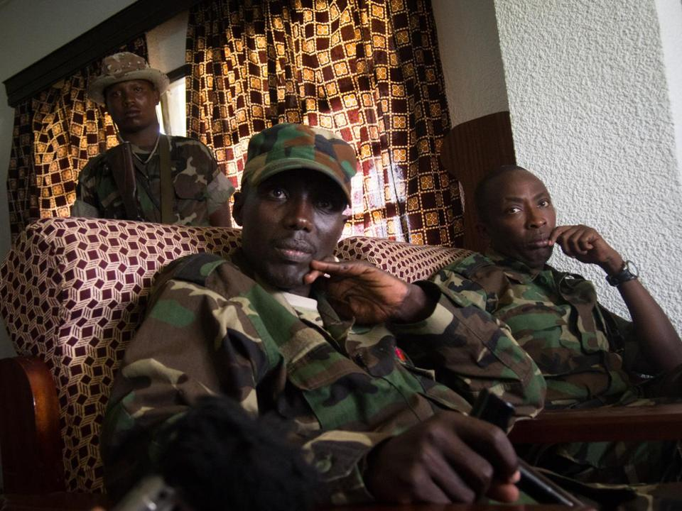 M23 rebel leader Sultani Makenga (left) is said to be in the hands of the Ugandan army.