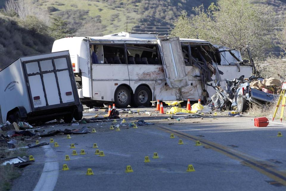 The National Transportation Safety Board highlighted a tour bus crash with eight deaths that occurred in Southern California in its investigation of a federal inspectors.