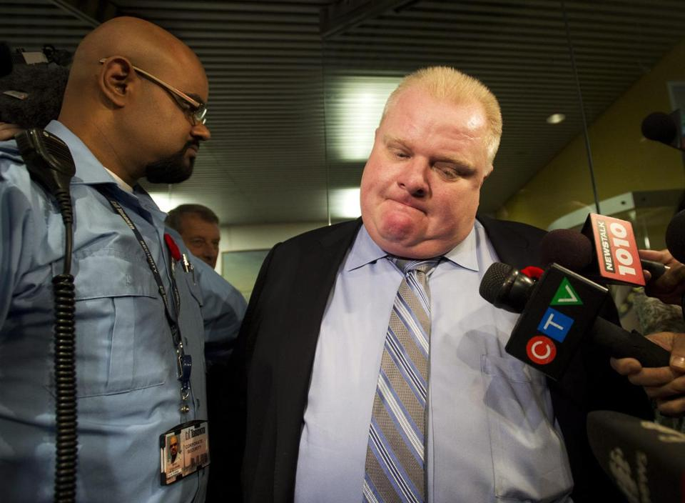 Mayor Rob Ford of Toronto told reporters he is embarrassed by the new video but will not resign.