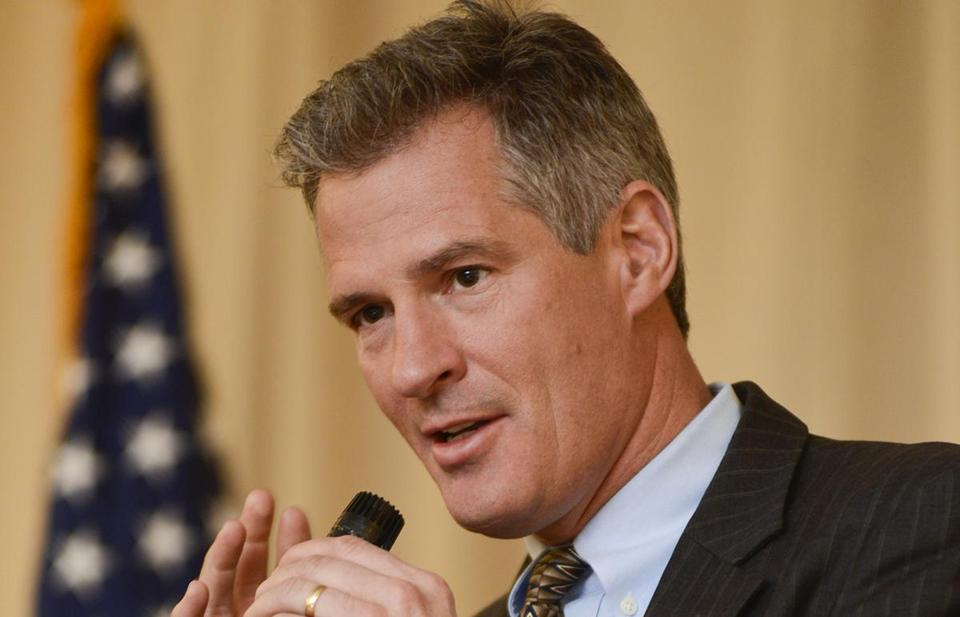 Scott Brown, shown in Nashua in April, has been coy about his political plans.