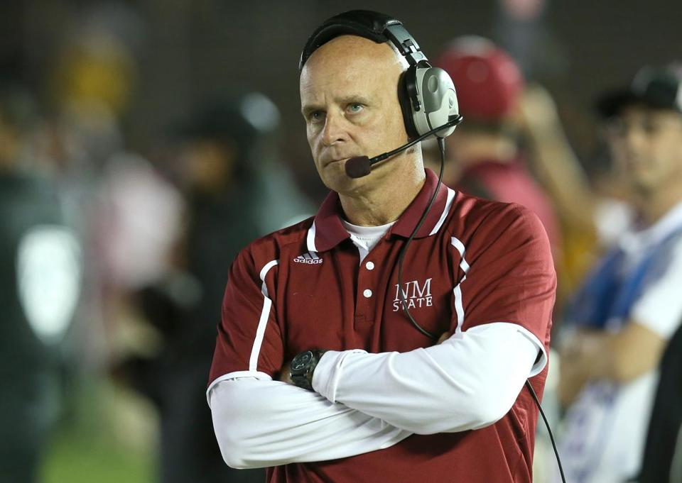 Ex-BC offensive coordinator Doug Martin is now head coach at New Mexico State.