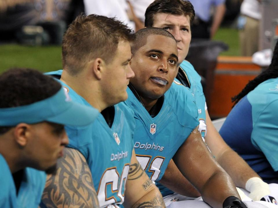 "Teammates Richie Incognito (left) and Jonathan Martin ""did a lot of stuff together,"" said fellow Dolphins offensive lineman Tyson Clabo."