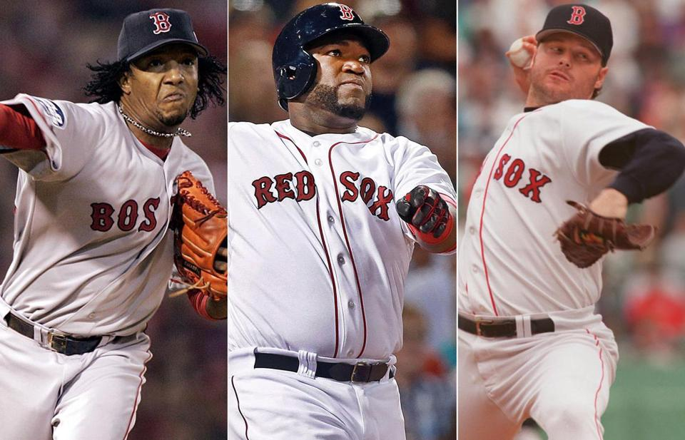Pedro Martinez, David Ortiz, and Roger Clemens are all part of Bob Ryan's 25-man all-time Red Sox World Series roster.