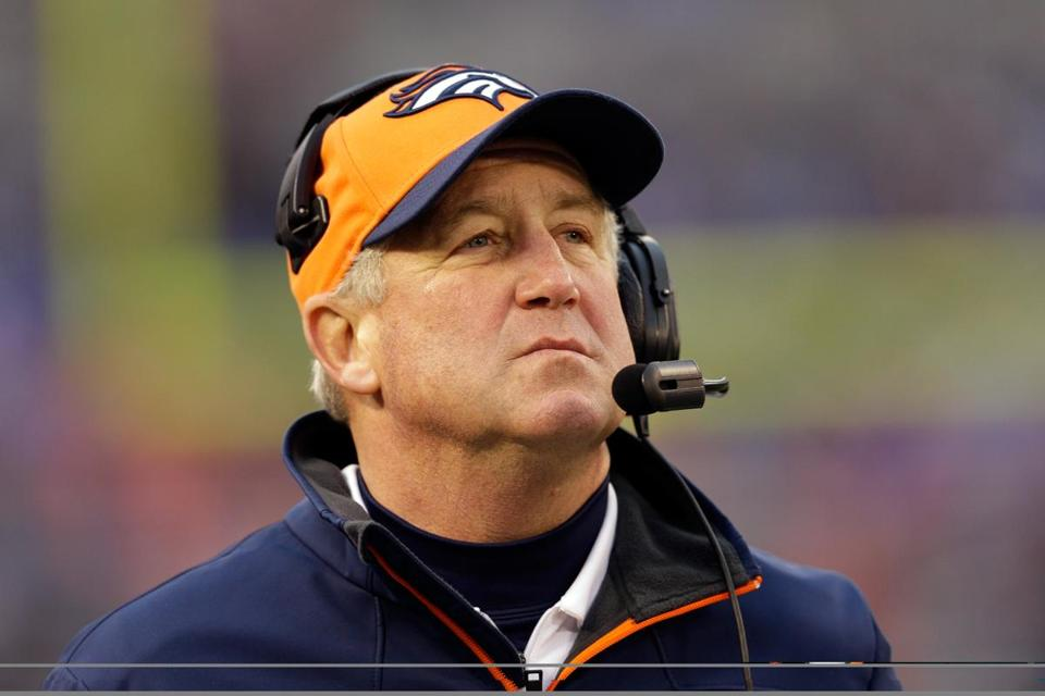 Broncos coach John Fox is away from his team for health reasons.