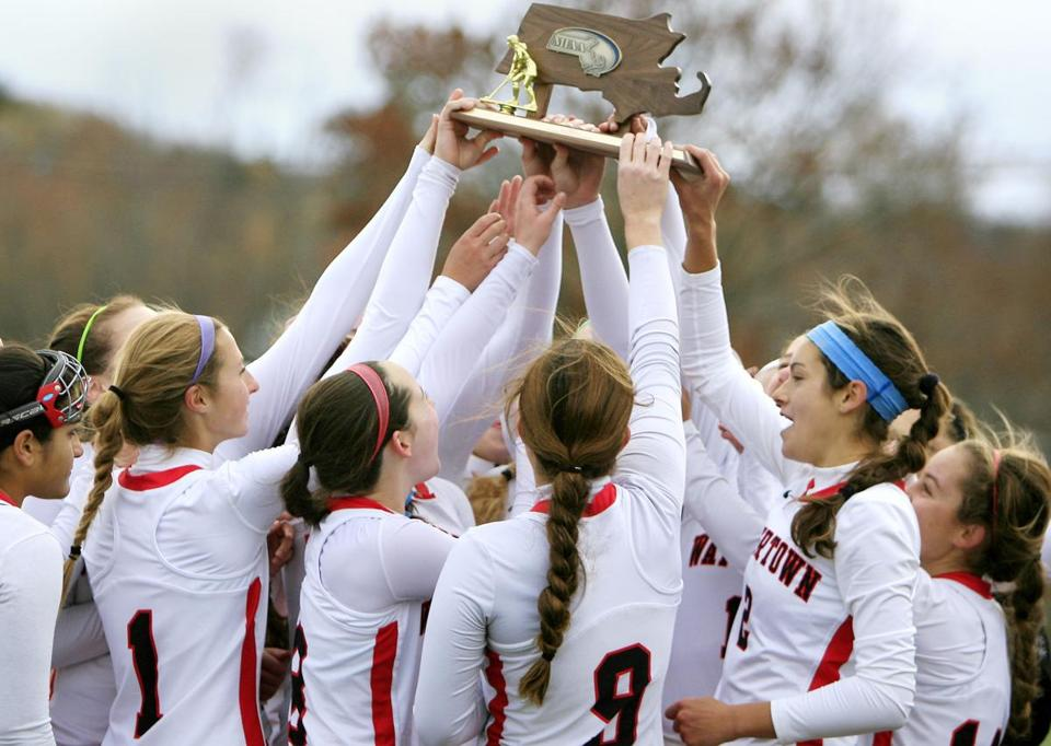 A familiar refrain during the fall: The Watertown field hockey team, which hasn't lost in five years, celebrates a Division 2 state title.