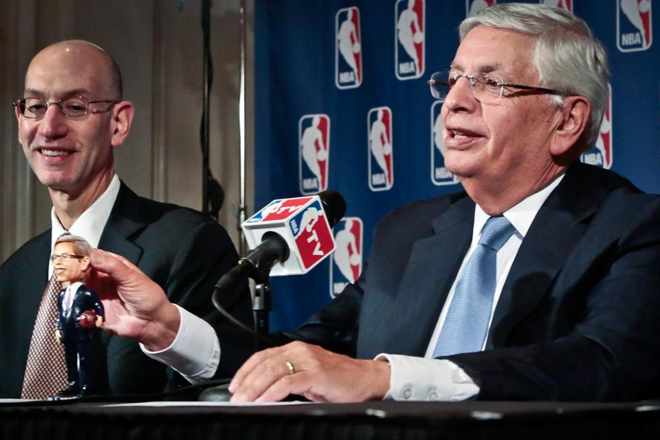 The reins of the league will be handed to Adam Silver (left) after a wildly successful 30-year run by David Stern.