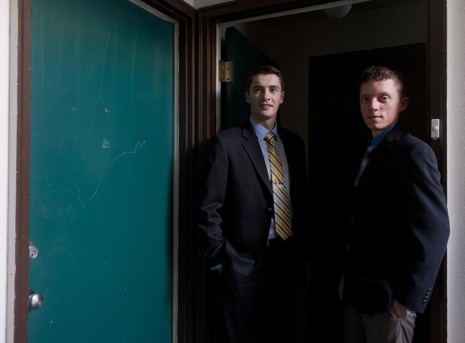 Gonzaga students Erik Fagan (left) and Daniel McIntosh  are fighting their probation for having a gun.