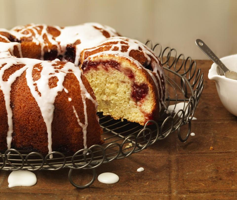 Lemon-cranberry swirl cake.