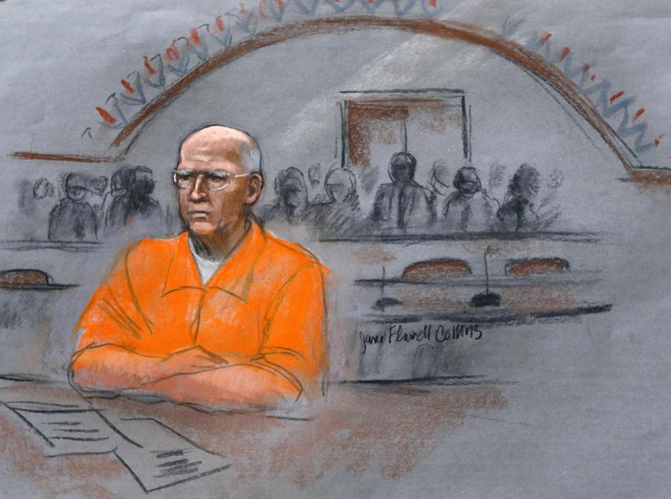 "James ""Whitey"" Bulger sat in court Wednesday during his sentencing hearing."