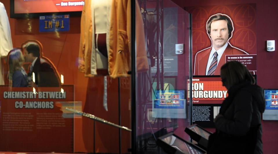 "The ""Anchorman"" exhibit at the Newseum in Washington, D.C., uses the movie parody to capture a time when women reporters were joining TV news teams."