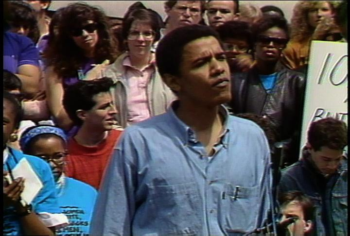 Digitized footage includes a 1991 Barack Obama speech.