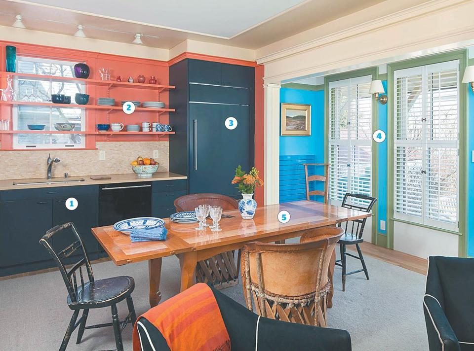 """The space has been ornamented to have a lot of character,"" says John Tittmann. ""It doesn't feel like a kitchen; it feels like a beautiful room."""