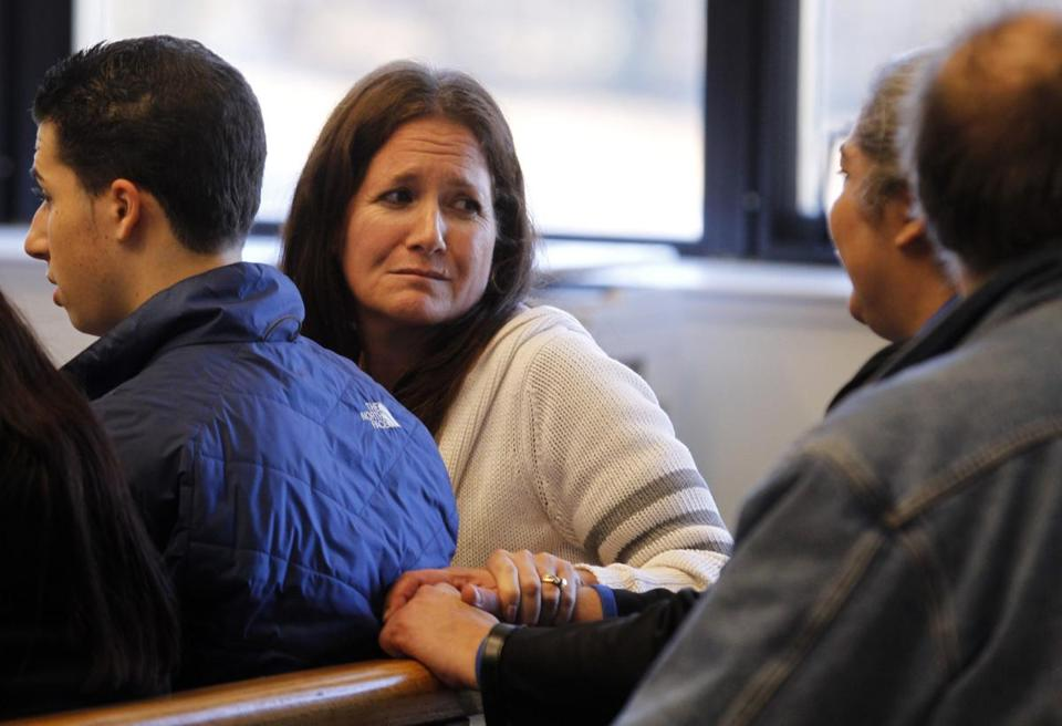 The family of shooting victim Joseph Morante attended the arraignment for Elosko Brown at Roxbury District Court on Monday.