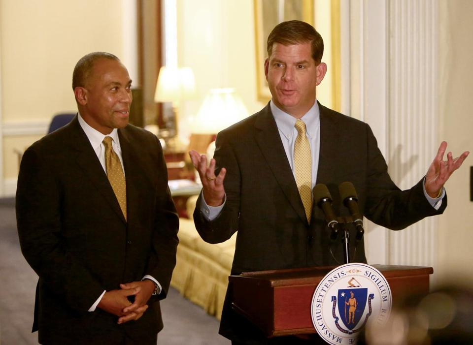 """I promised that a Walsh administration will be reflective of the city of Boston,"" said Mayor-elect Martin Walsh (right)."