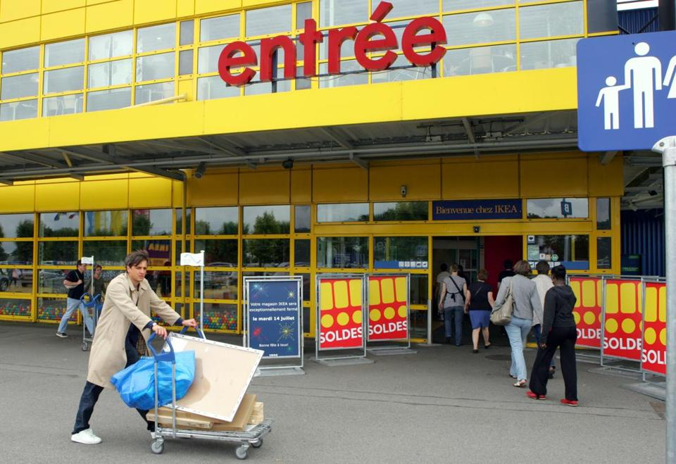 An Ikea store in Plaisir, France. Ikea France confirmed charges were brought against two executives.